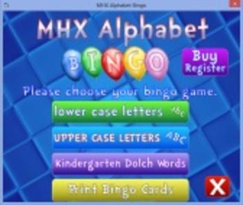 MHX Alphabet Bingo