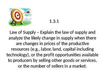MI Content Expectation Targets - Economics