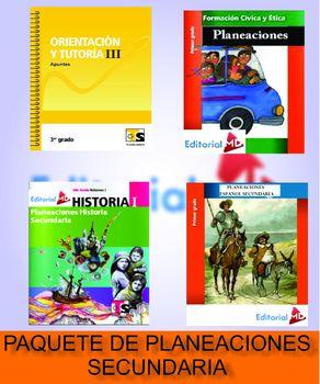 MI PAQUETE DE PLANEACIONES DE SECUNDARIA