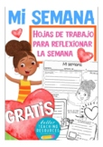 MI SEMANA - FREE Spanish creative writing worksheets - hoj