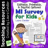 MI Survey for Kids with Printable, Digital, and Editable Options