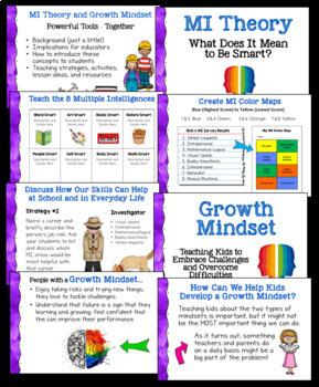 MI Theory Book and Growth Mindset Webinar Bundle