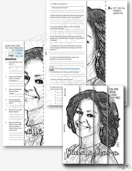 MICHELLE OBAMA: BLACK HISTORY MONTH WRITING ACTIVITY, GROWTH MINDSET, BIOGRAPHY