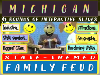 MICHIGAN FAMILY FEUD! Engaging game about cities, geograph