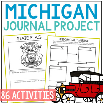 MICHIGAN History Project, Differentiated State Research Journal {EDITABLE}