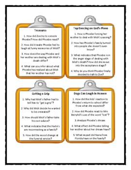 MICK HARTE WAS HERE by Barbara Park * Discussion Cards
