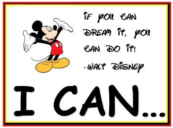 MICKEY DISNEY POLKA DOT THEME BACKGROUNDS FOR I CAN STATEMENT PHOTO FRAMES