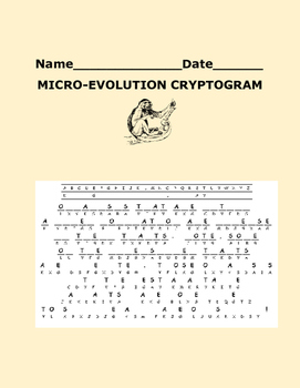 MICRO - EVOLUTION CRYPTOGRAM
