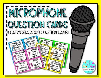 MICROPHONE QUESTION CARDS