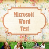 MICROSOFT WORD TEST & Online Review Game - Instructional Video included