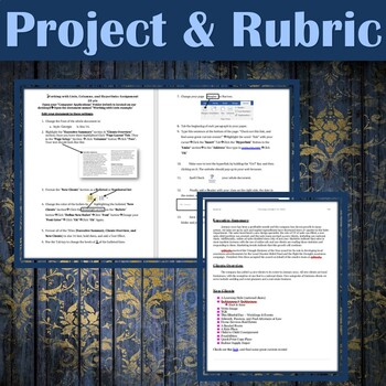 MICROSOFT WORD - Working with Lists, Columns, & Hyperlinks