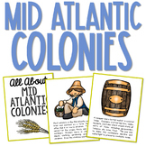 COLONIAL AMERICA POSTERS: Mid Atlantic Colonies   Coloring Book Pages