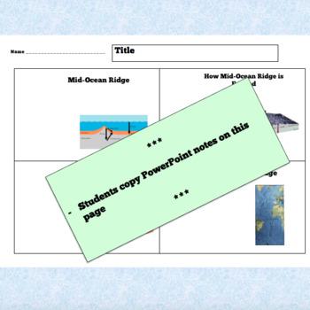 MID-OCEAN RIDGE – PowerPoint + Review Questions + Handout