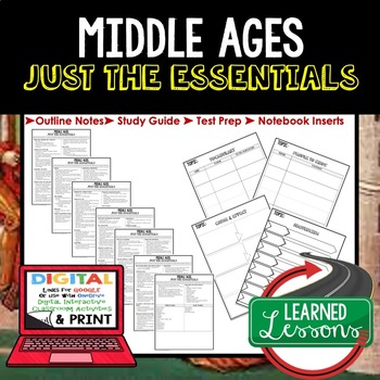 MIDDLE AGES Outline Notes JUST THE ESSENTIALS Unit Review, Outline