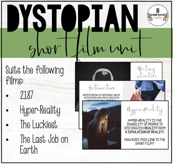 MIDDLE AND HIGH SCHOOL SHORT FILM UNIT: DYSTOPIAN GENRE