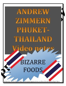 MIDDLE SCHOOL-BIZARRE FOODS in Thailand Video guide
