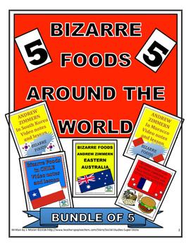 MIDDLE SCHOOL - Bizarre Foods BUNDLE - 5 Video Guides