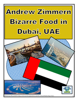 MIDDLE SCHOOL - Bizarre Foods in Dubai, UAE AND FREE MAP ACTIVITY!