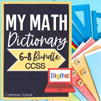 MIDDLE SCHOOL CCSS BUNDLE - DIGITAL MATH DICTIONARY - GOOGLE DRIVE