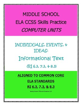 MIDDLE SCHOOL CCSS RI 6.3 7.3 8.3 INDIVIDUALS, EVENTS, & IDEAS - COMPUTER UNIT