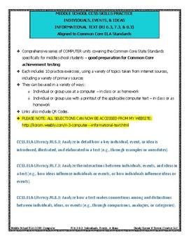 MIDDLE SCHOOL CCSS RI 6.3 7.3 8.3 INDIVIDUALS, EVENTS, & IDEAS - COMPUTER UNIT