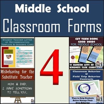 MIDDLE SCHOOL - Classroom Resources and Classroom Forms