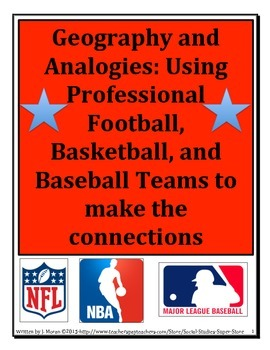 MIDDLE SCHOOL- Combo Pack Geography & Analogies using Pro Sports Teams