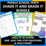 Middle School Math Find the Pattern Activity Bundle (14 activities)