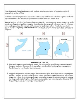 MIDDLE SCHOOL- No Prep Southern/Central African nation find