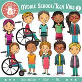 Middle School / Teen Kids Clip Art – Set 3