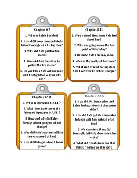 MIDDLE SCHOOL: THE WORST YEARS OF MY LIFE By James Patterson - Discussion Cards
