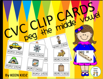 MIDDLE VOWEL CLIP CARDS