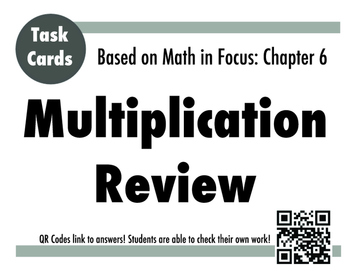 MIF Chapter 6 Multiplication/Division Review Task Cards -3rd Grade Math In Focus