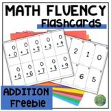 Mental Math Kindergarten Flashcard Freebie