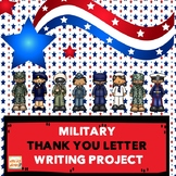 MILITARY APPRECIATION THANK YOU LETTER WRITING PROJECT