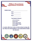 MILITARY RECRUITER APPOINTMENT REMINDER