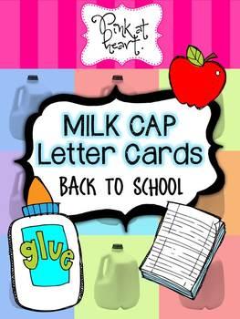 MILK CAP Letter Cards - Back to School