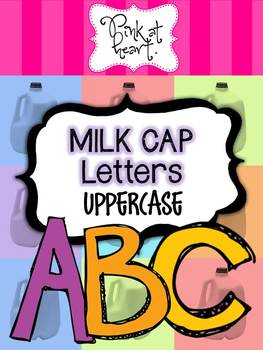 MILK CAP Letters - UPPERcase