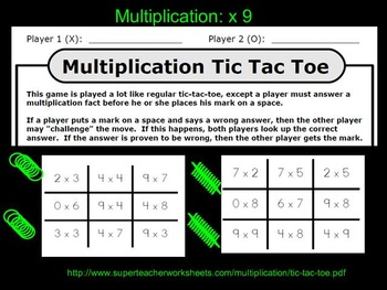 MIMIO: 3rd Grade Multiplication Lessons Q2 (x0, 3 ,4, 9)