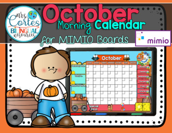 MIMIO Calendar Math- October FALL VERSION (English)