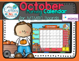 MIMIO Calendar Math- October FALL VERSION (English)