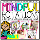 MINDFUL ROTATION THEME DAY- FULL LESSON PLANS, ACTIVITIES,