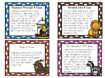The MINDFULNESS Zoo: Relaxation Movement Cards To Tame Your Wild Animals