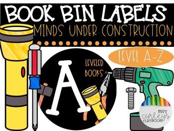 MINDS UNDER CONSTRUCTION Book Bin Label FREEBIE