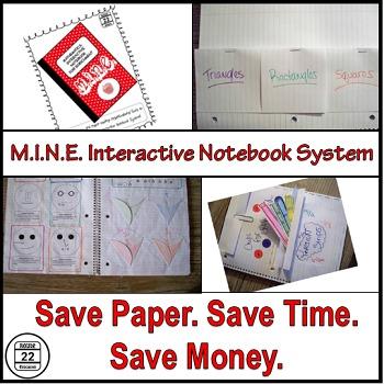Interactive Notebook Starter Kit for Math {Paper-Saver}