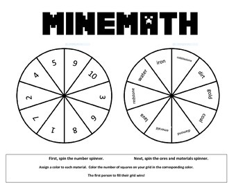 Minecraft Math Game Grade 1! NO PREP easy and FUN Printable!