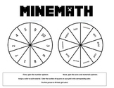 Minecraft Math Game Grade 1! NO PREP easy and FUN Printable!