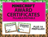 MINECRAFT Reward Award Certificates of Encouragement