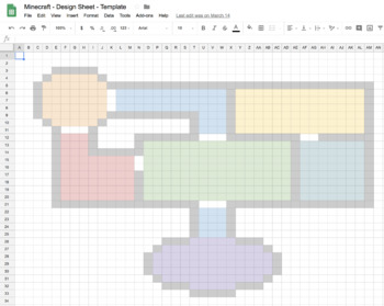 MINECRAFT - DESIGN SHEET - Easy building design, collaboration and sharing