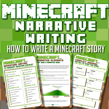 MINECRAFT - Narrative Writing Unit - COMPLETE 'HOW TO' UNIT